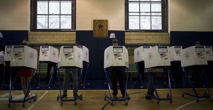 Many New York primary voters faced obstacles during Tuesday's vote, including thousands who were dropped from the rolls in the borough of Brooklyn.