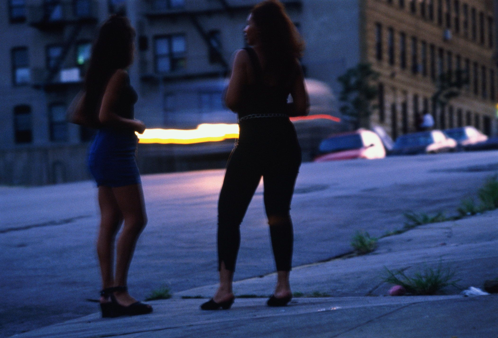 These 'prostitutes' are actually undercover Police women, New York City, USA.