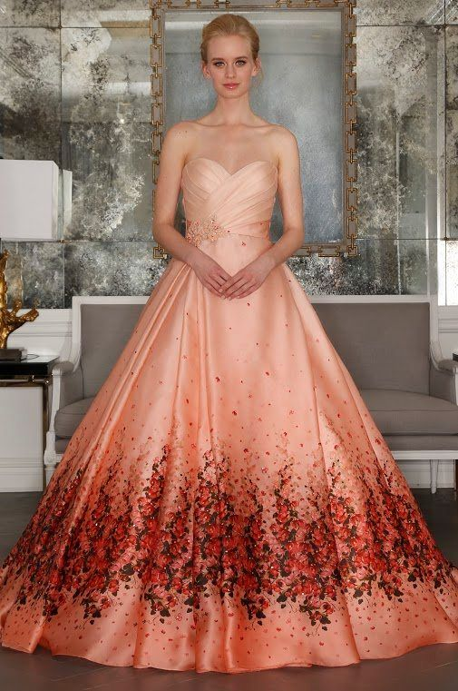Emejing Floral Print Wedding Dresses Contemporary - Styles & Ideas ...