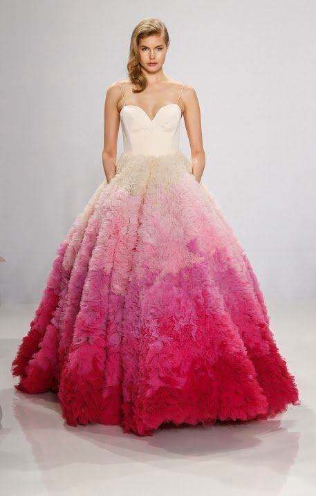 16 Colorful Wedding Dresses That Practically Scream Spring - The ...