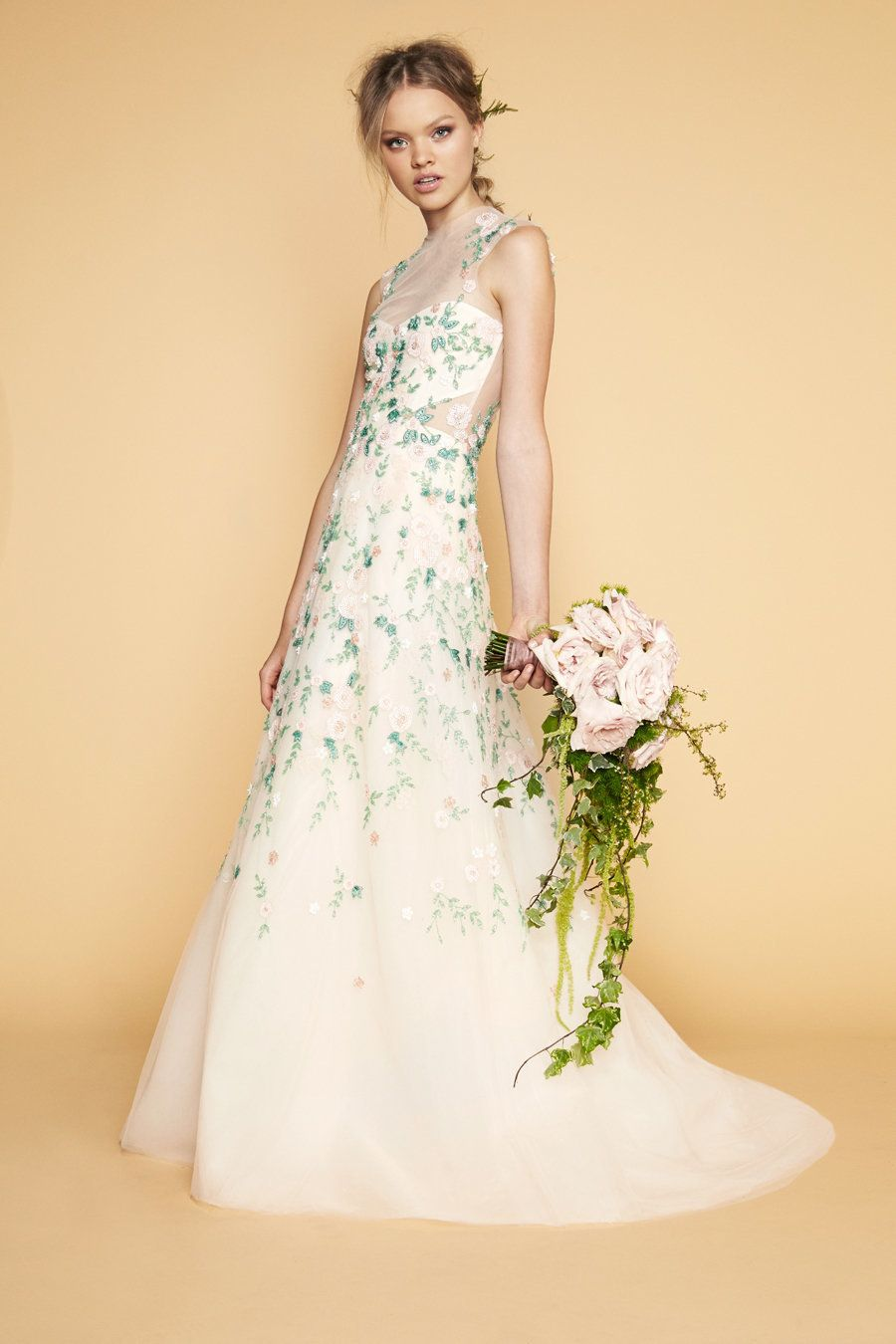 16 Colorful Wedding Dresses That Practically Scream Spring ...