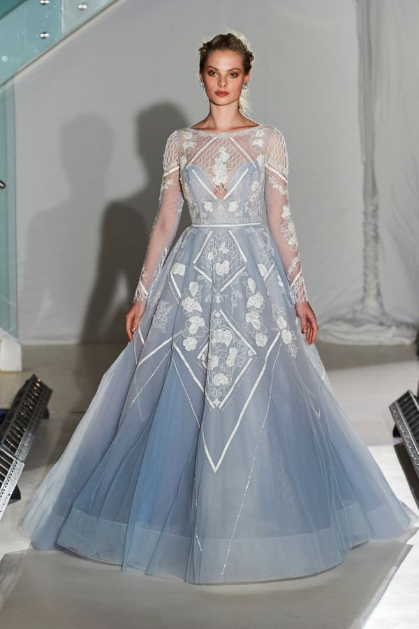 16 colorful wedding dresses that practically scream spring huffpost 16 colorful wedding dresses that practically scream spring junglespirit Images