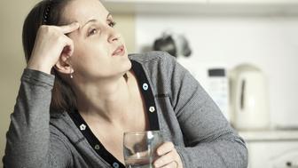 drunken middle-aged woman