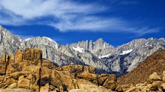 Sierra Crest from the Alabama Hills, California, USA, May 2008