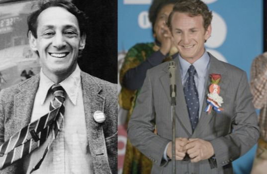 Sean Penn (right) played Harvey Milk in the film penned by Dustin Lance