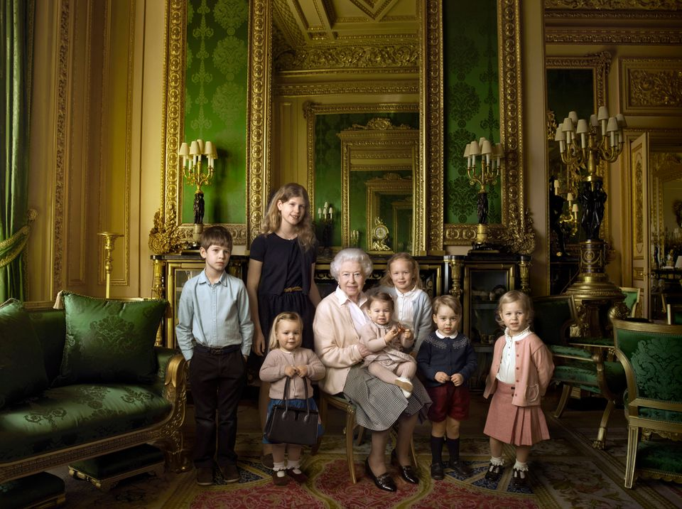 This official photograph, released by Buckingham Palace to mark her 90th birthday, shows Queen Elizabeth...