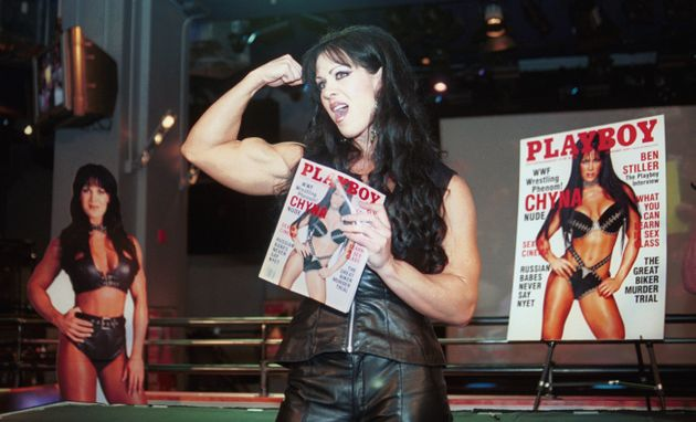 Chyna posed for Playboy after leaving WWE in