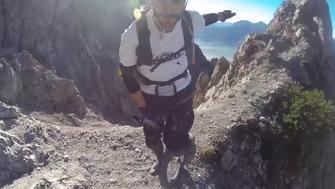 Mountain unicyclist