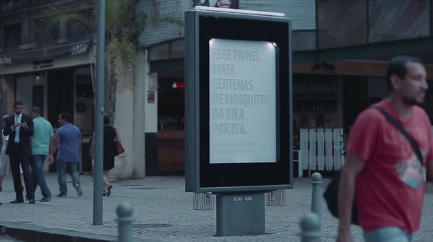 This Incredible Mosquito Killer Billboard Fights Zika And Raises