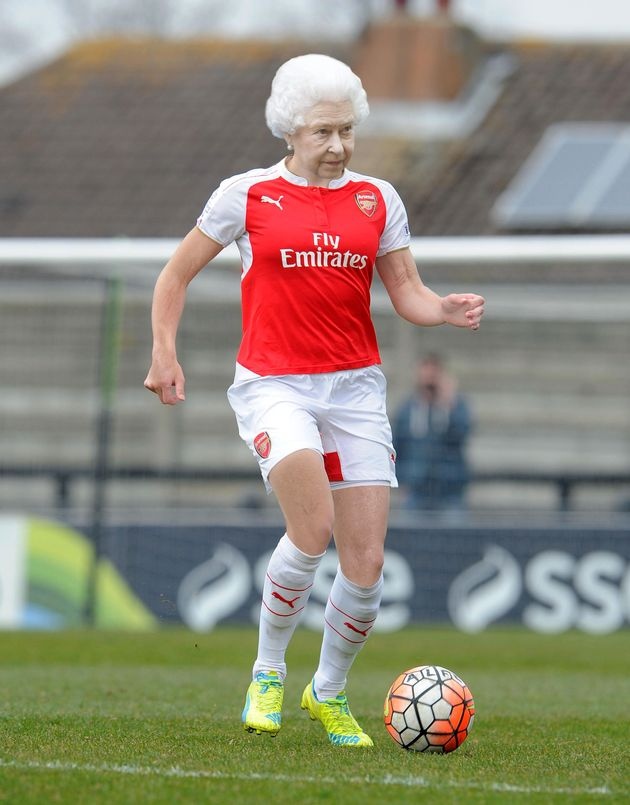 How the Queen might look in an Arsenal