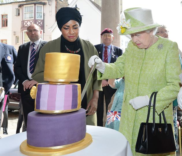 Nadiya Hussain presented the Queen with her 90th birthday cake on