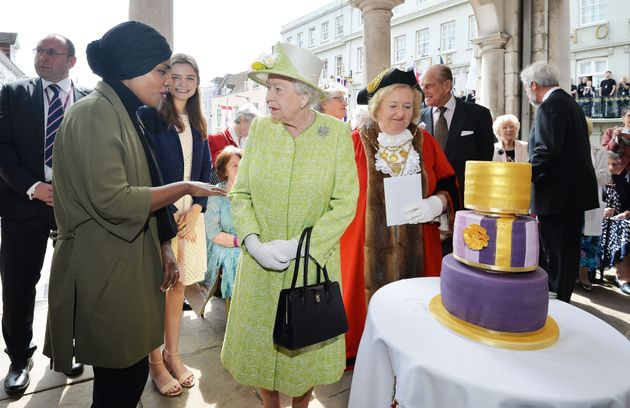 Nadiya chatted with the Queen as she celebrated her milestone