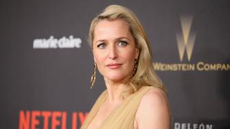 Actress Gillian Anderson arrives at The Weinstein Company & Netflix Golden Globe After Party in Beverly Hills, California January 10, 2016.  REUTERS/Danny Moloshok