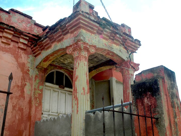 A building in Guantanamo, Cuba, 2014.
