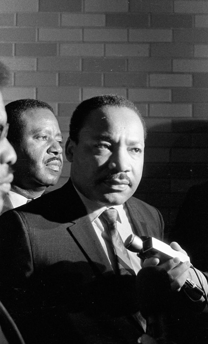 Dr. Martin Luther King, April 3, 1968, Memphis, just a few hours before the tragedy.