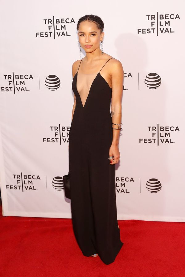 <strong>Zoë Kravitz:</strong>Kravitz's look is so sleek. The plunging neckline is quite revealing, but since the r