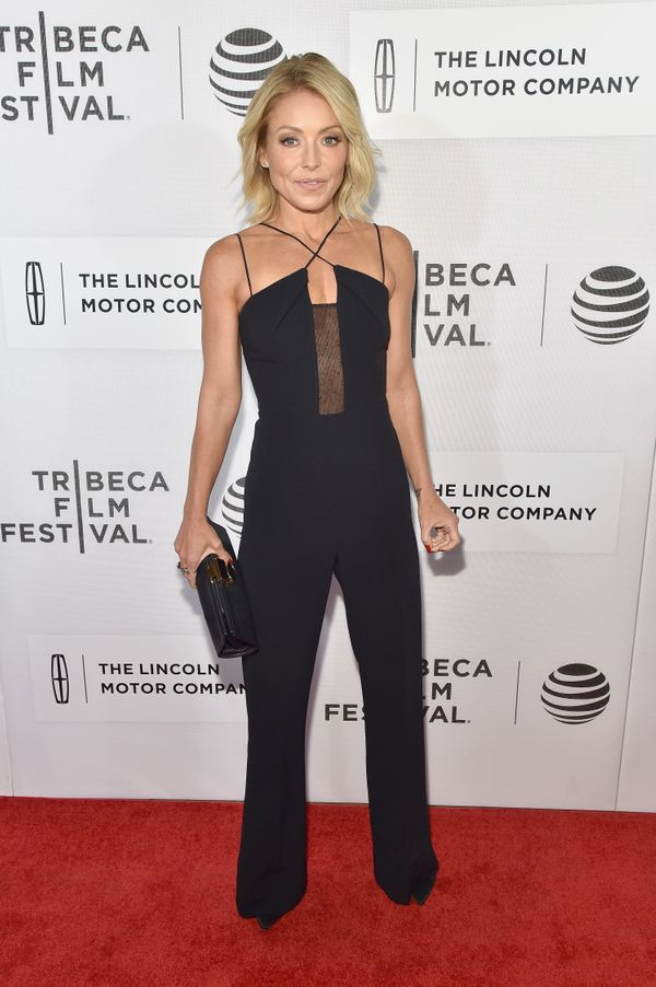 <strong>Kelly Ripa inRoland Mouret:</strong> What we have here is excellent fit, interesting details (like the sheer pa