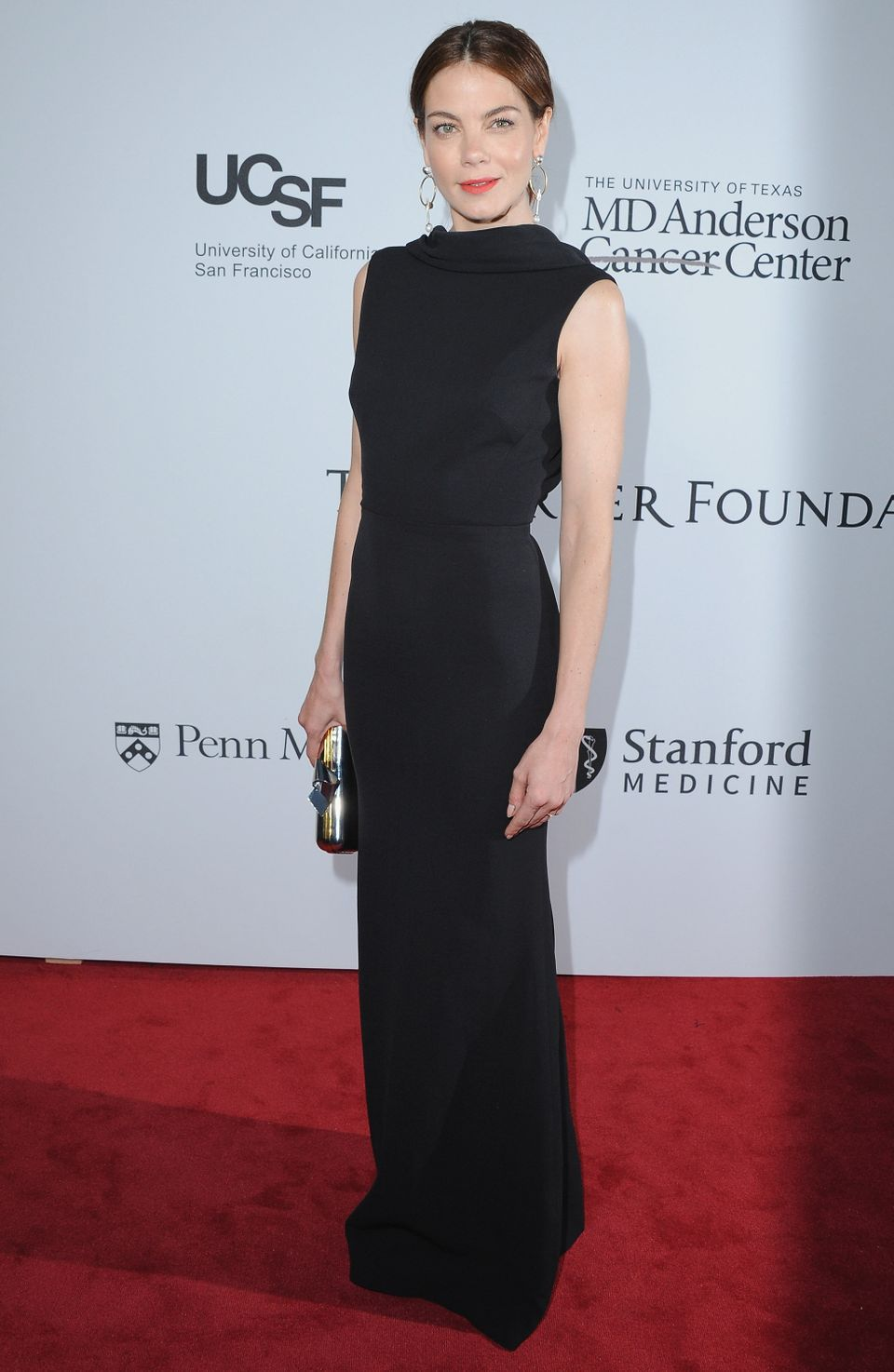 <strong>Michelle Monaghan in Victoria Beckham:</strong> Between the expert draping, the high neckline and the cinched in wais