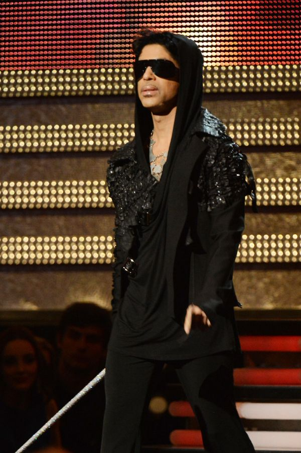 Onstage at the 55th Annual GrammyAwards.