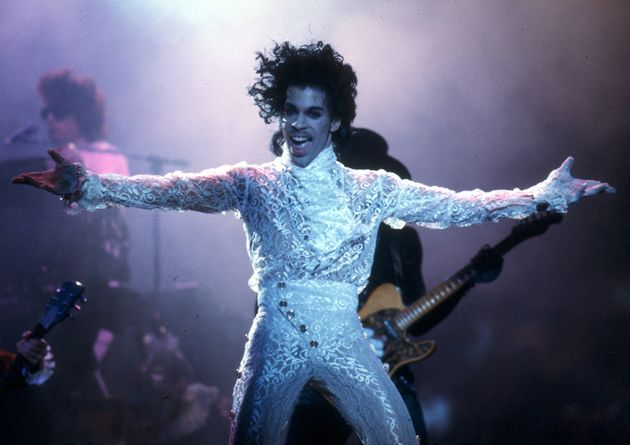 Prince performs live at the Fabulous Forum on February 19, 1985 in Inglewood,