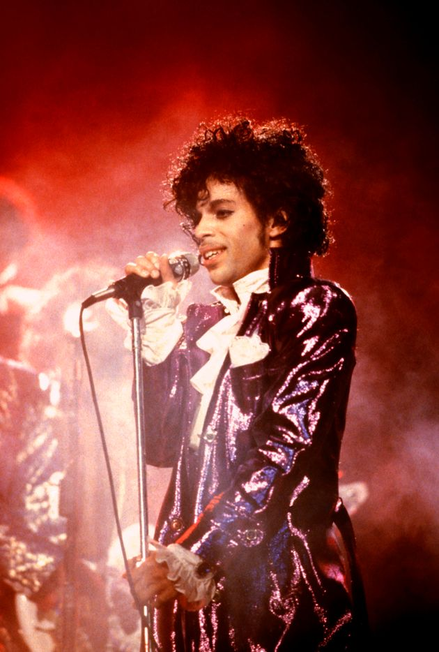 Prince, performing in