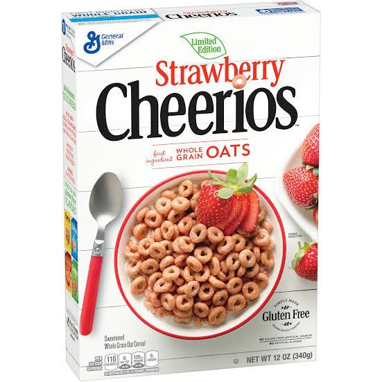Strawberry Cheerios is the limited edition spring flavor that is currently appearing on store shelves.