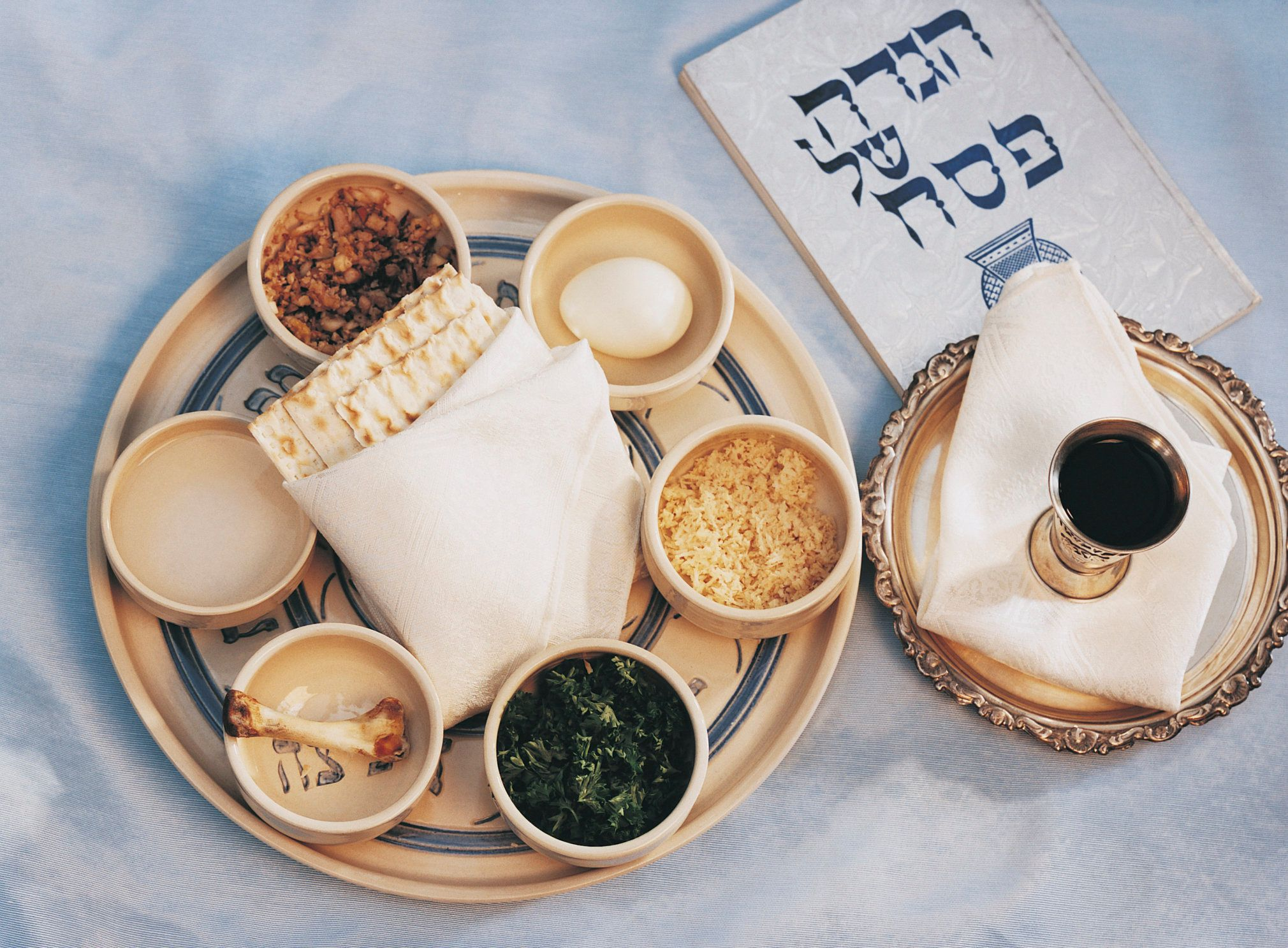 Close-Up of Traditional Jewish Food