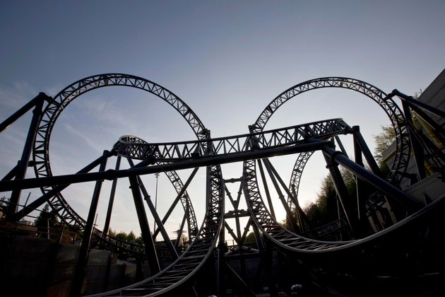 Alton Towers's The Smiler rolercoaster, whichhas 14