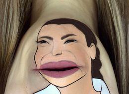 Makeup Artist Turns Her Chin Into Crying Kim Kardashian