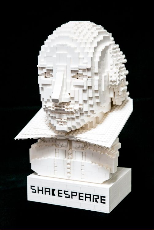 Lego is also commemorating Shakespeare's death with this bust of The Bard, made from its toy bricks.