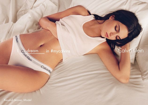 The #inmycalvins ad that inspired Ivory's shoot.