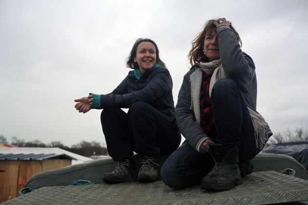 Inca Sorrell and her mother Liz Clegg in the Calais