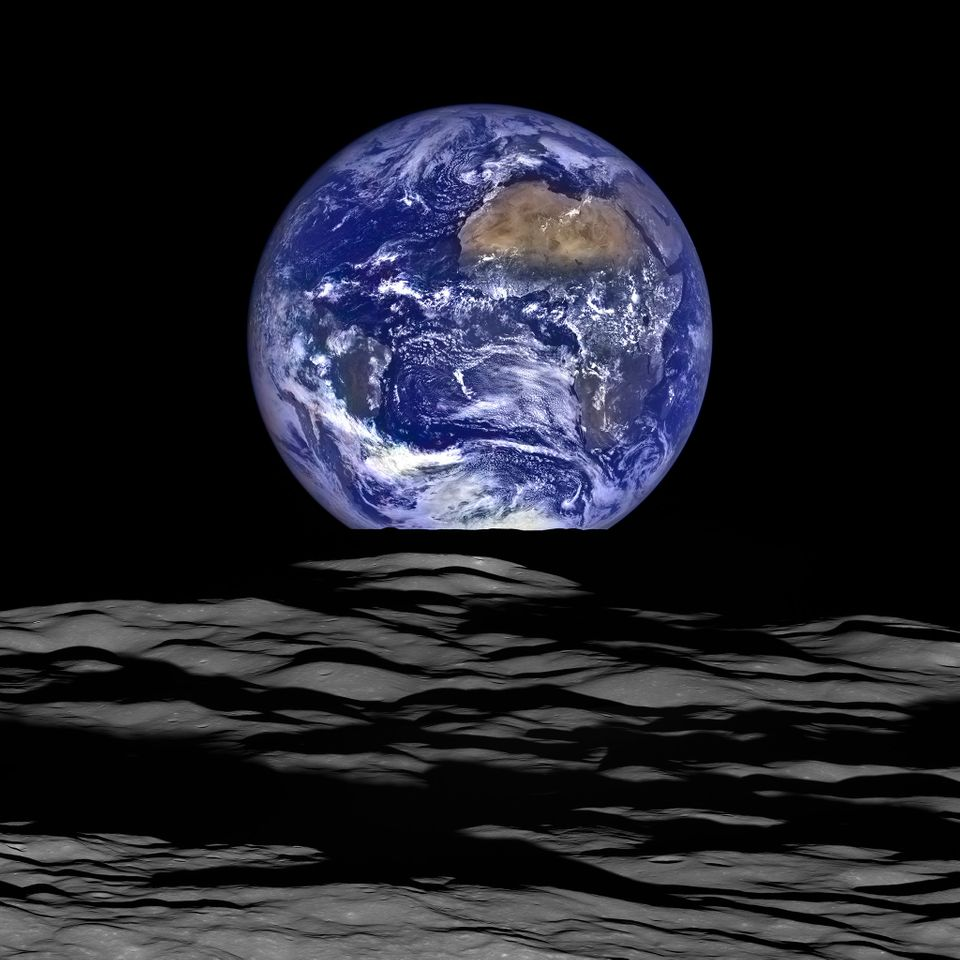 NASA's Lunar Reconnaissance Orbiter captured a unique view of Earth from the spacecraft's orbit around...