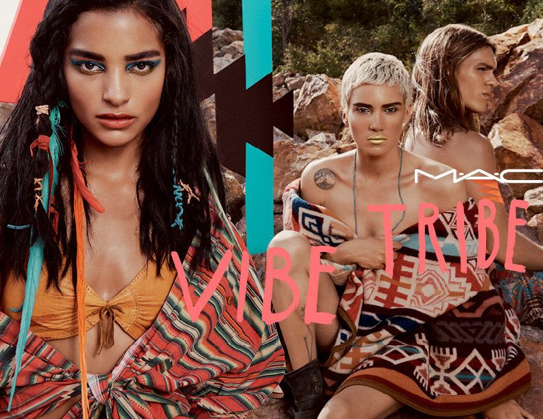 The campaign visuals for MAC Cosmetics' Vibe Tribe collection.