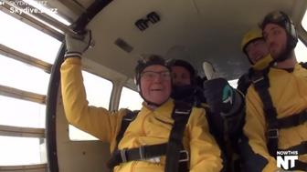 This 100-year-old man jumped out of a plane to celebrate his birthday.