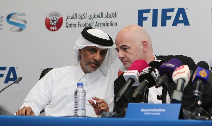 FIFA President Gianni Infantino met with top Qatari soccer officials this week to discuss workers' reforms at World Cup stadi