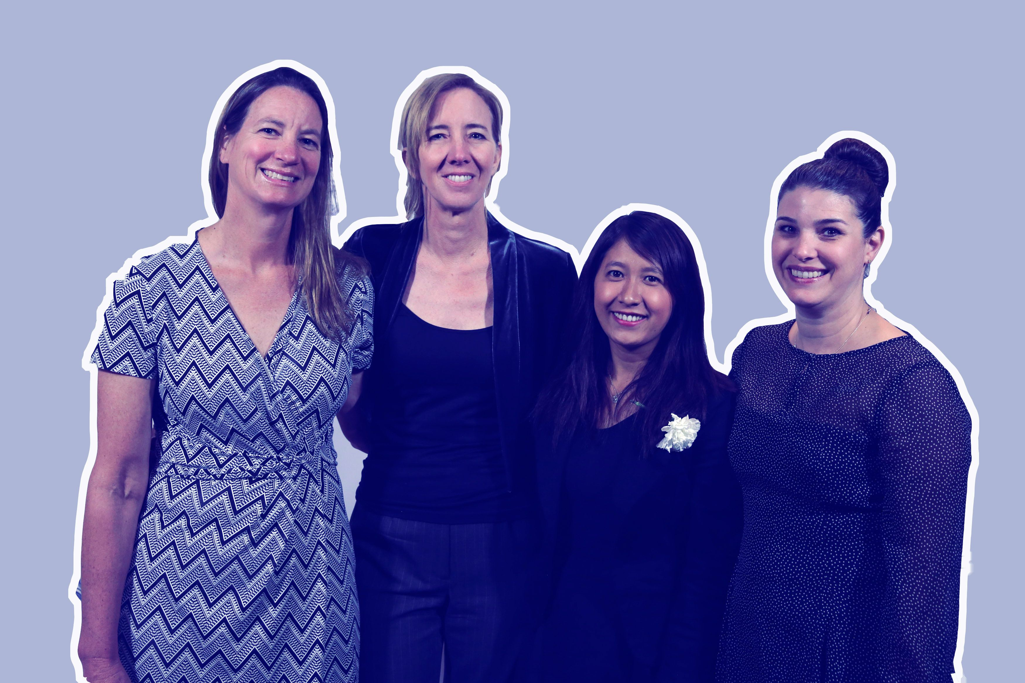 From left to right, Martha Mendoza, Robin McDowell, Esther Htusan and Margie Mason investigated modern-dayslavery in th