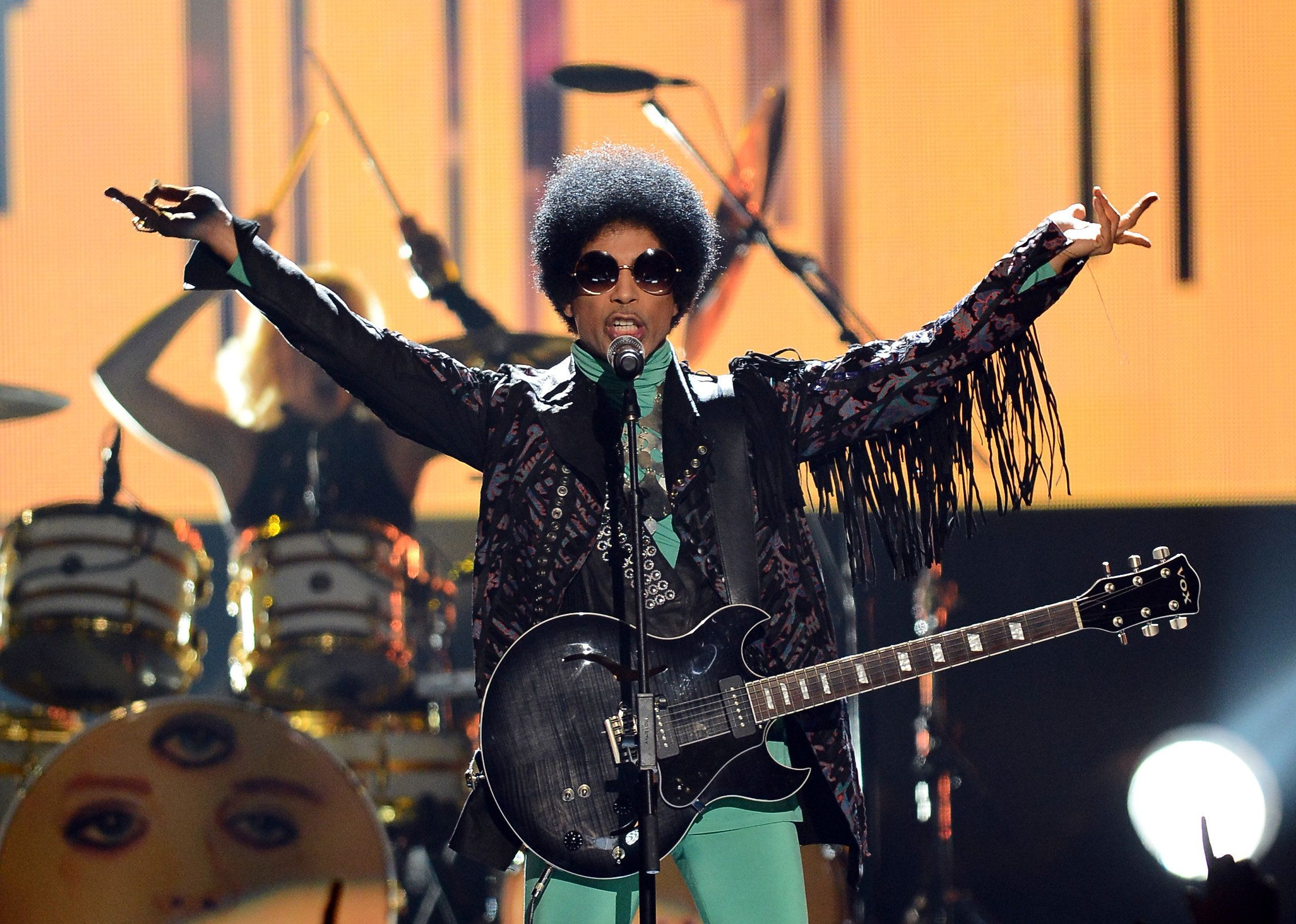 Musician Prince performs onstage during the 2013 Billboard Music Awards on May 19, 2013 in Las Vegas.