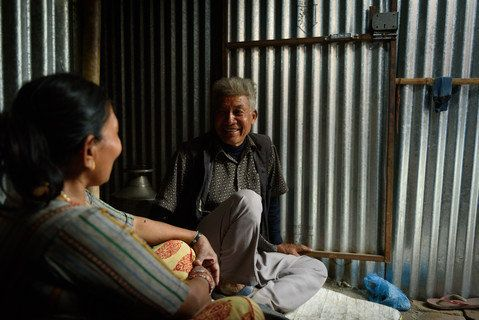Laxman Gongaju's five-story home collapsed in the earthquake and the 70-year-old was buried with it. He was trapped for about