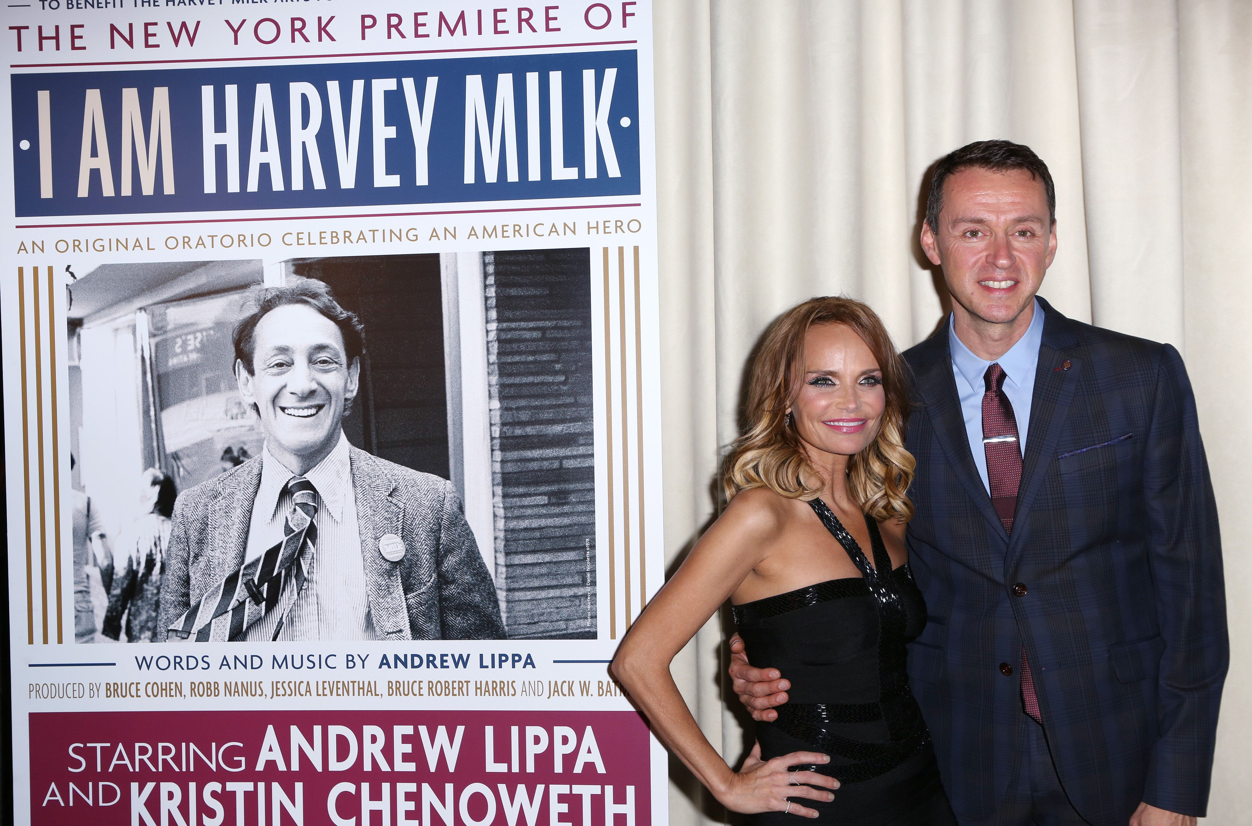 """Kristin Chenoweth and Andrew Lippa will star in """"I Am Anne Hutchinson/I Am Harvey Milk"""" on April 23 and 24 in Bethesda, Maryl"""