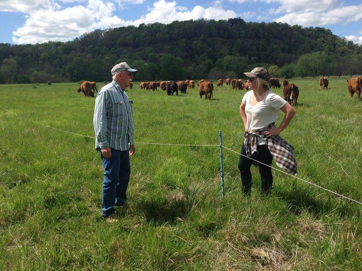 Lauren Manning originally metRon Morrow (left) when she was touring hisFayetteville, Arkansas, farm. Shewor