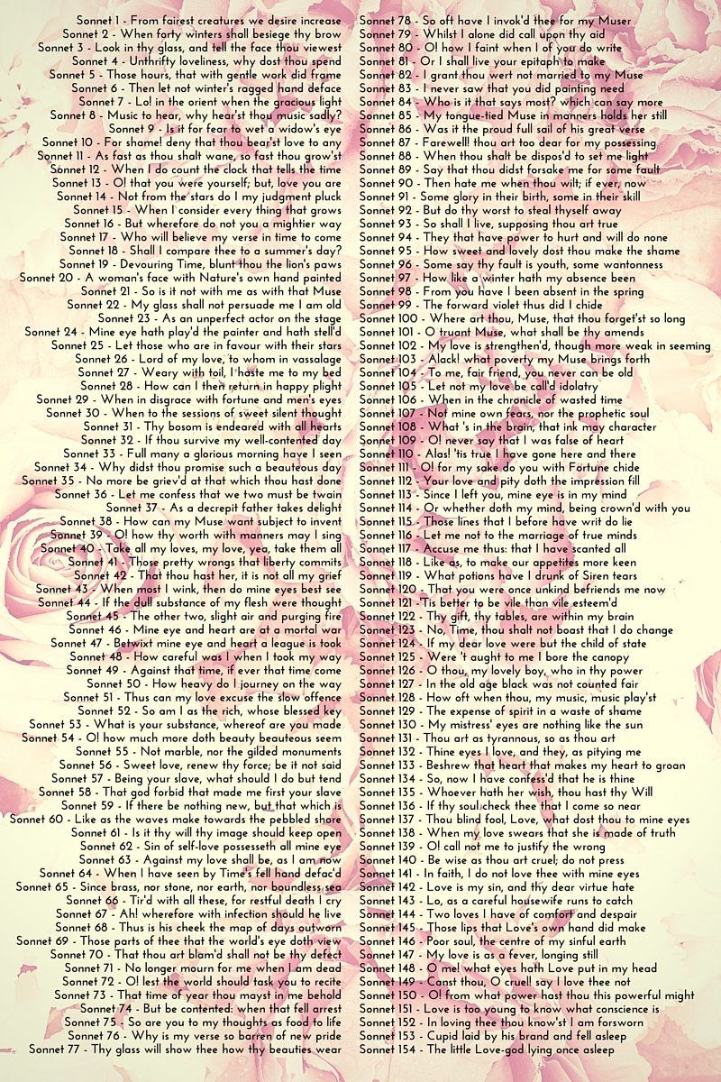 Each of those sonnets is as perfectly crafted as aFabergé egg.