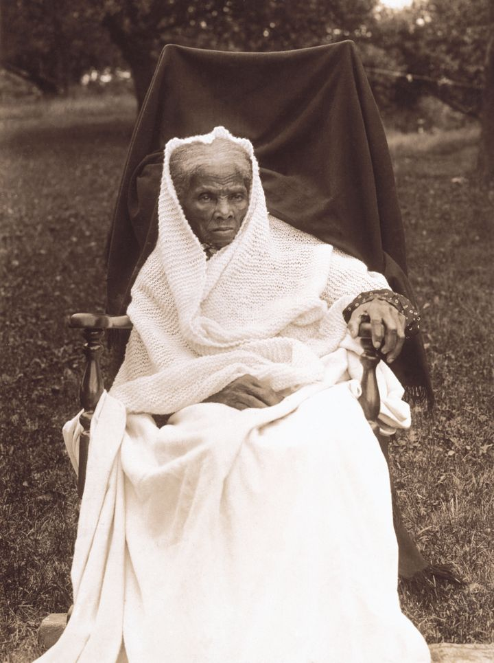 Harriet Tubman at her home in Auburn, New York, in 1911.