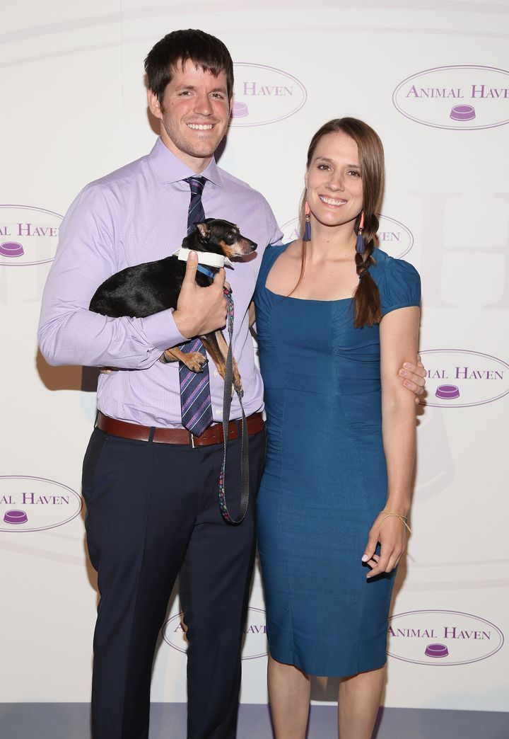 Brandon Stanton and Erin O'Sullivan at Animal Haven: Benefit for the Animals in New York City in 2015. (Susie is not the dog