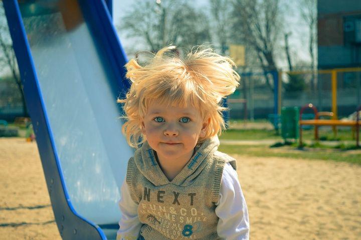 <p>child at playground</p>