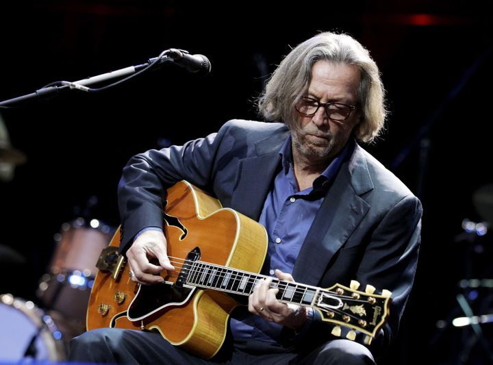 Eric Clapton performs at the Royal Albert Hall in London in 2010.