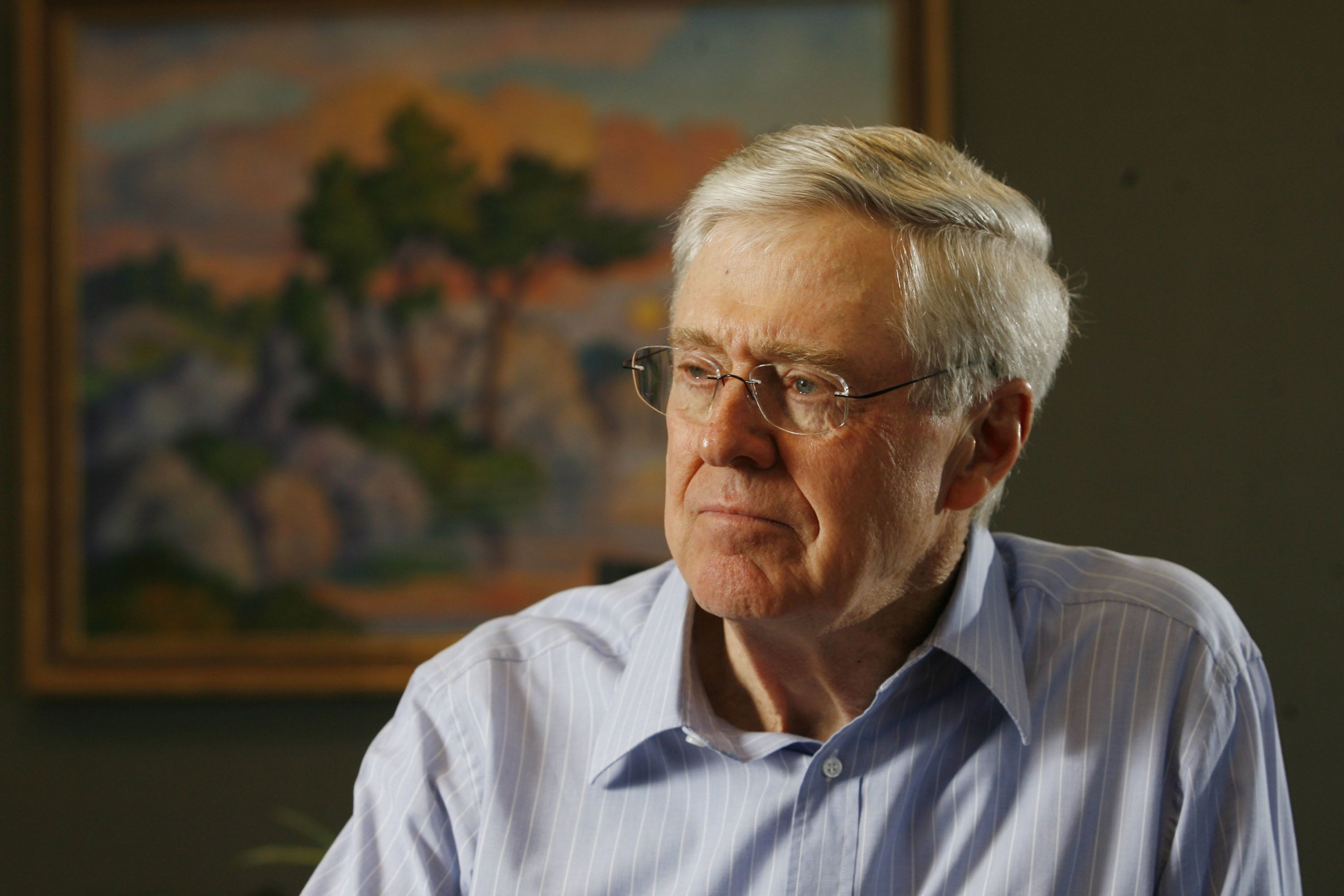 Multibillionaire Charles Koch, pictured in a 2007 file photo, founded the donor network tofund conservative causes.