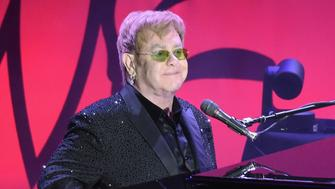 NEW YORK, NEW YORK - APRIL 12:  Elton John performs at the Breast Cancer Research Foundation's Hot Pink Party at the Waldorf Astoria Hotel on April 12, 2016 in New York City.  (Photo by Theo Wargo/Getty Images for BCRF)
