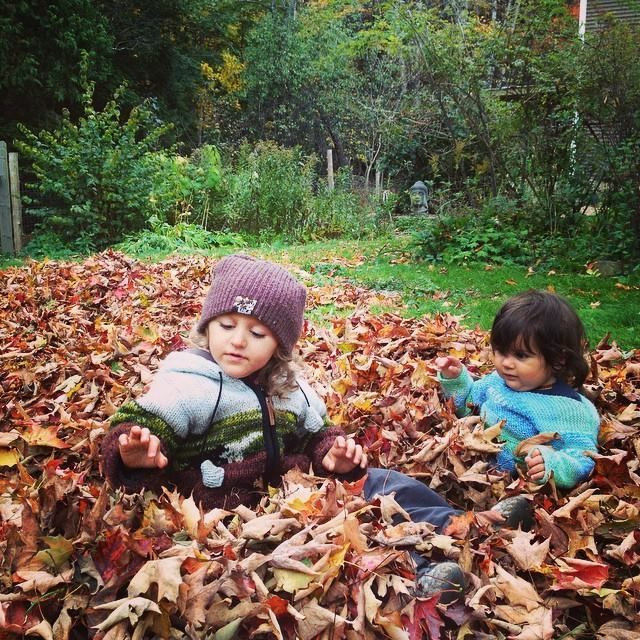 <p>Our son Maddox and daughter Olivia playing in the leaves.</p>