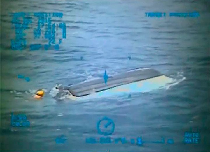 Two days after the boys vanished, their boat was spotted near New Smyrna Beach. A Coast Guard swimmer attached a beacon to it